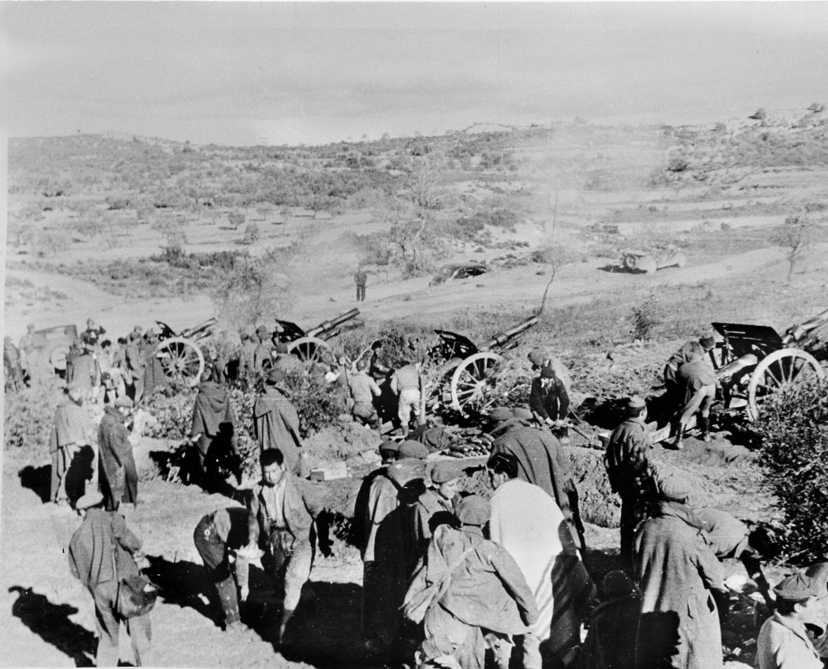 Katalánská fronta v lednu 1939