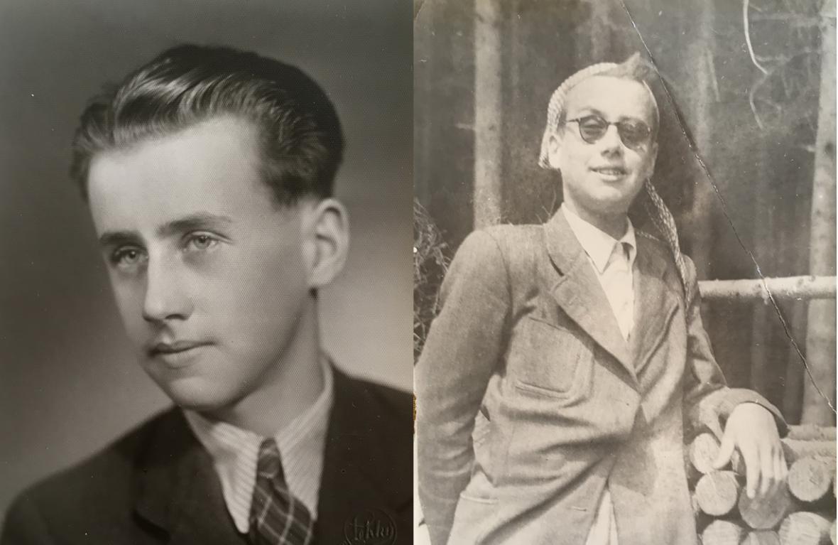 Karel Ellinger krátce před odjezdem do Terezína a po návratu z Dachau