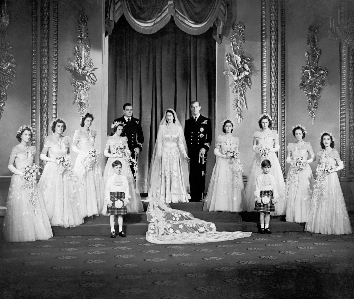 Svatba budoucí královny Alžběty a prince Philipa
