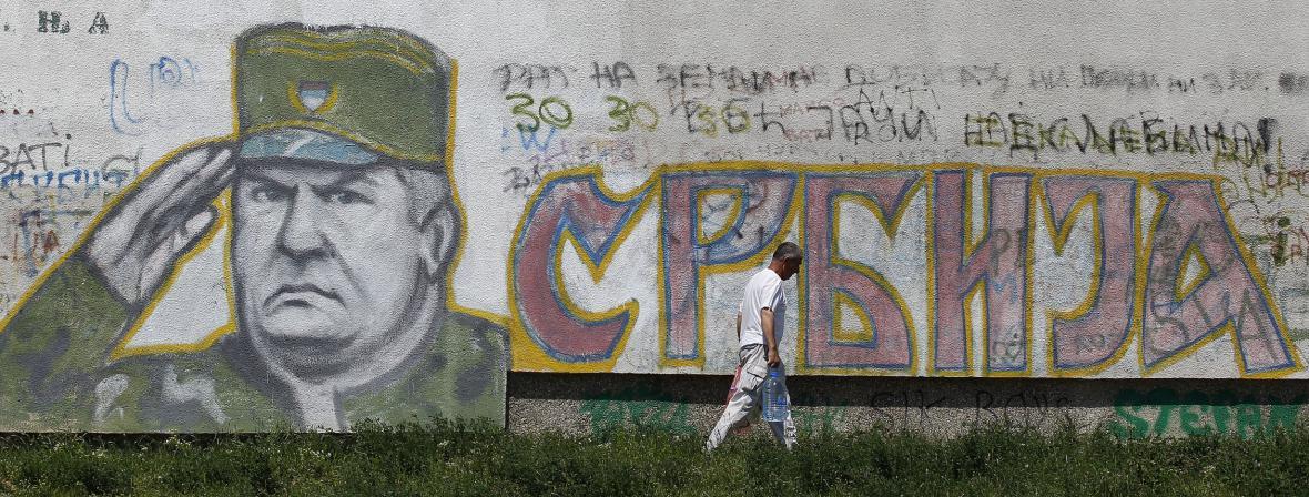 Grafitti na předměstí Bělehradu (foto z roku 2011)
