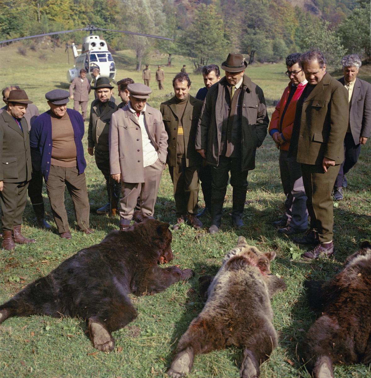 Lov medvědů byl v Rumunsku tradicí vždy - lovil je i prezident Nicolae Ceaușescu