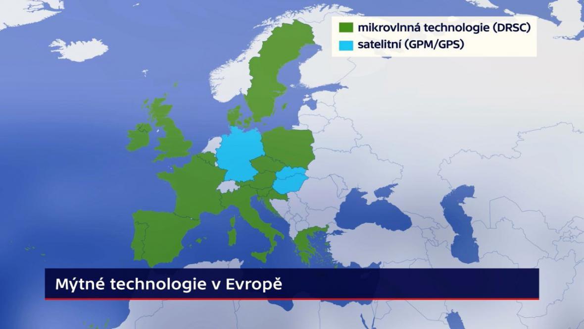 Mýtné technologie v Evropě