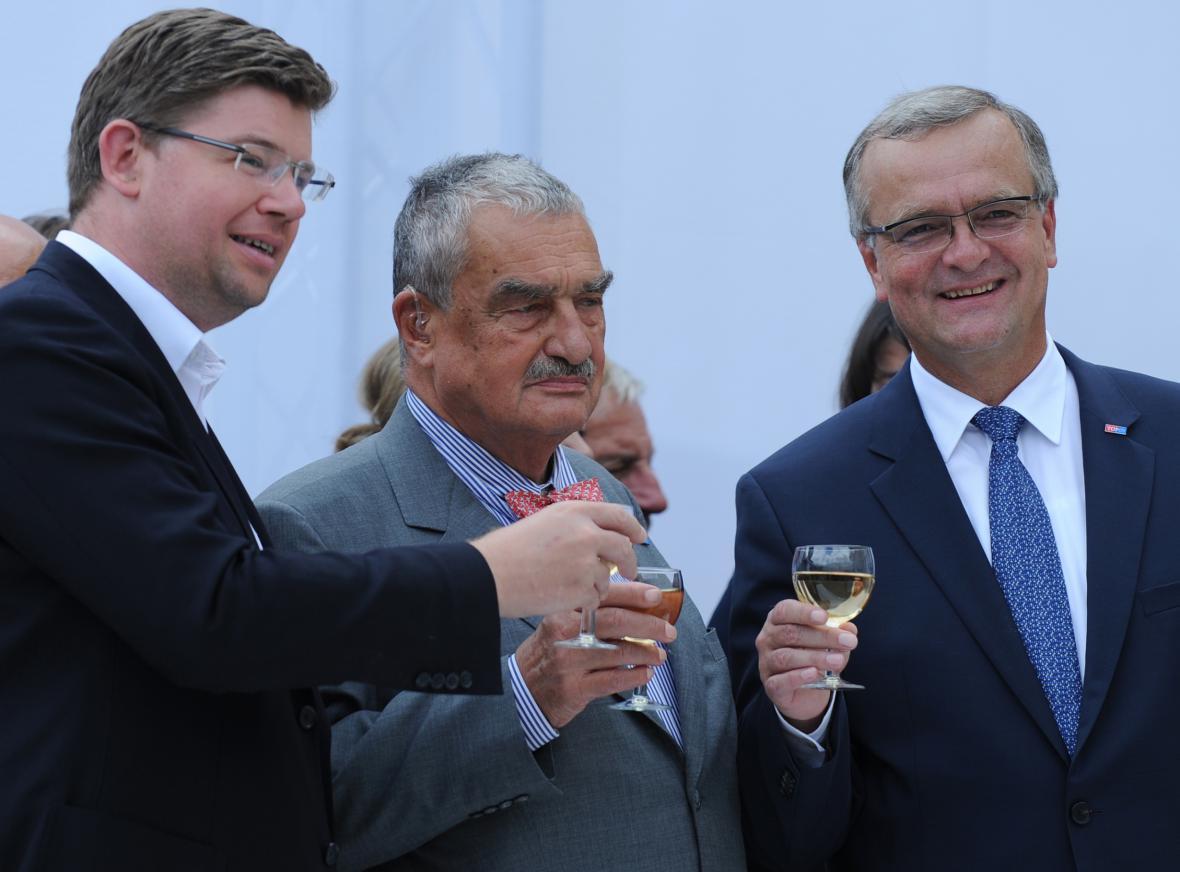 Jiří Pospíšil, Karel Schwarzenberg a Miroslav Kalousek