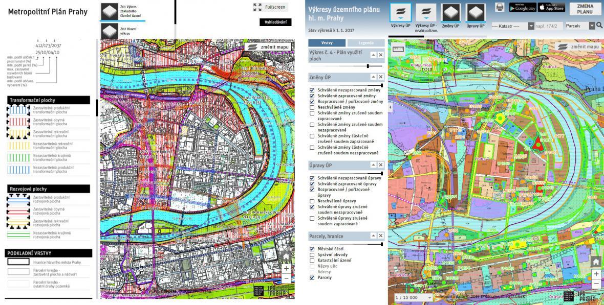 Srovnání územních plánů