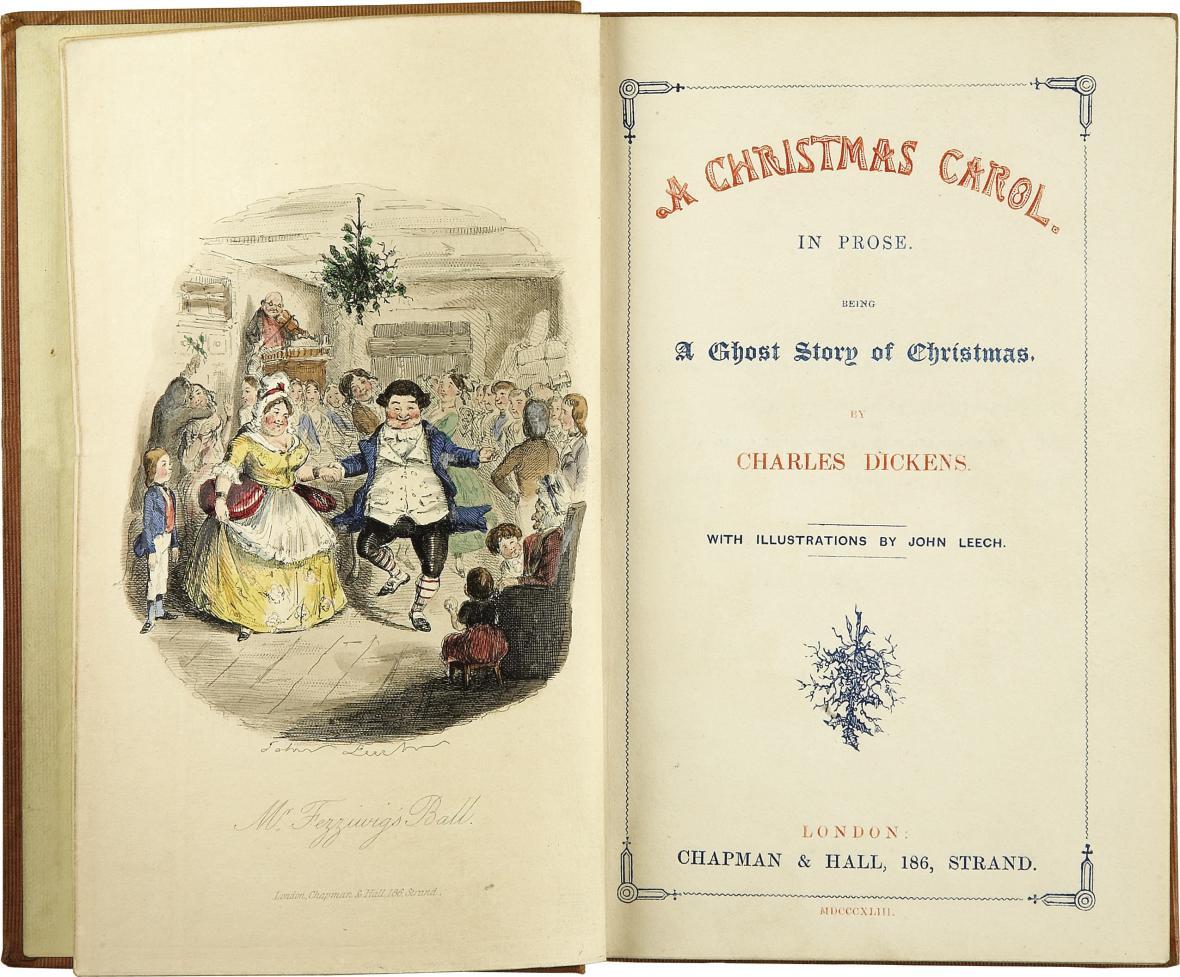 První vydání Dickensovy Vánoční koledy
