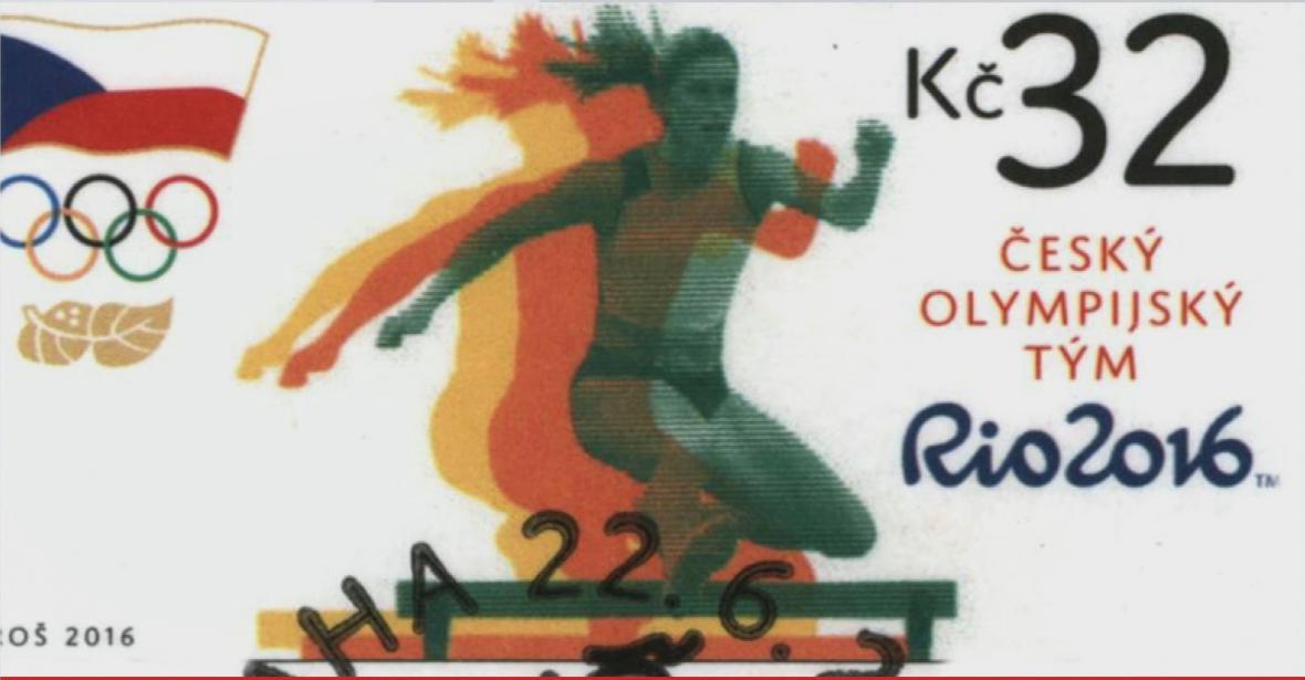 Poštovní známka k olympiádě v Riu