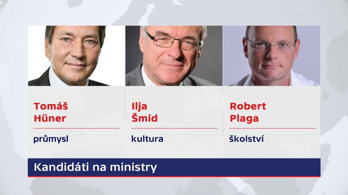 Kandidáti do Babišovy vlády