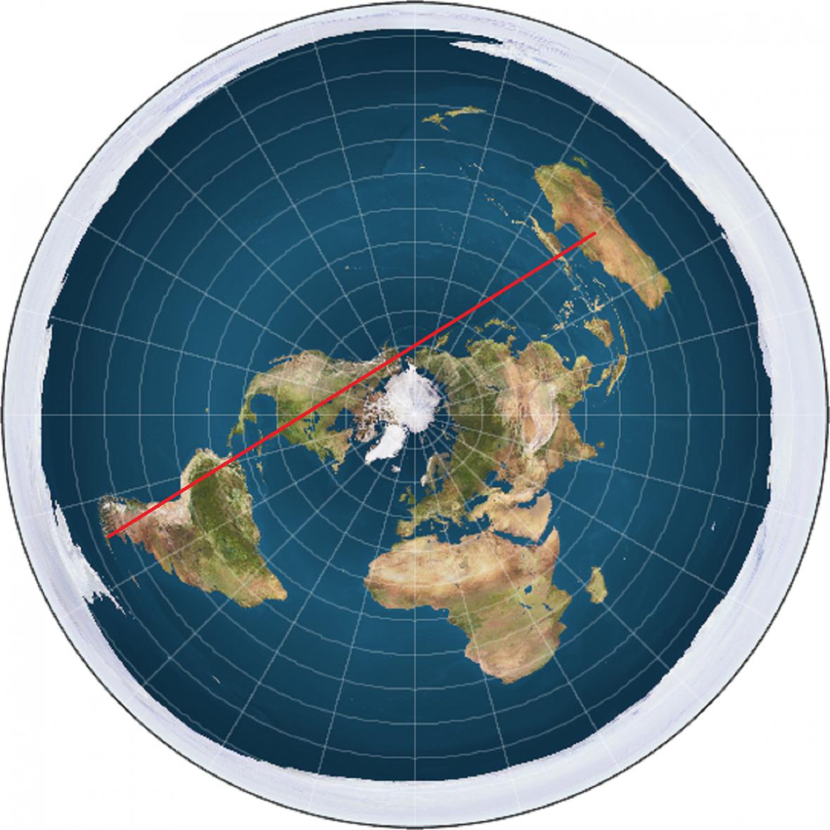 Kudy by se letělo z Austrálie do Jižní Ameriky, kdyby byla Země plochá
