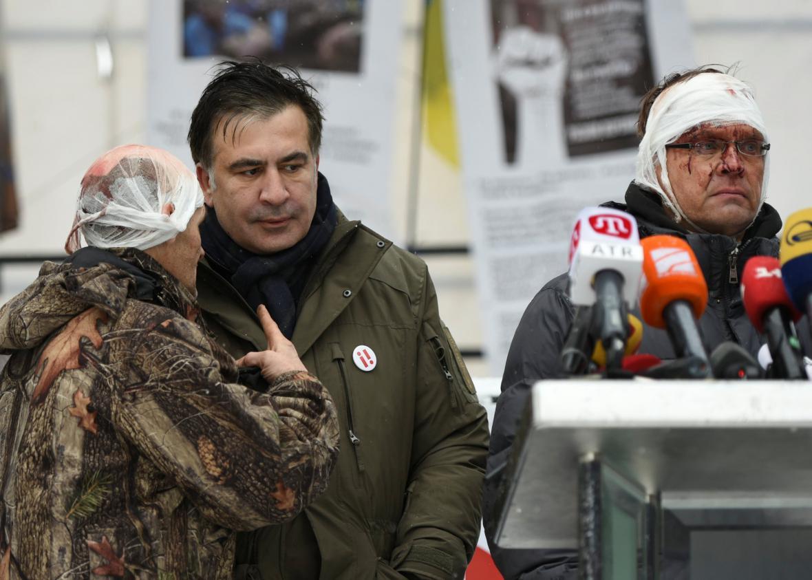 Saakašvili v Kyjevě