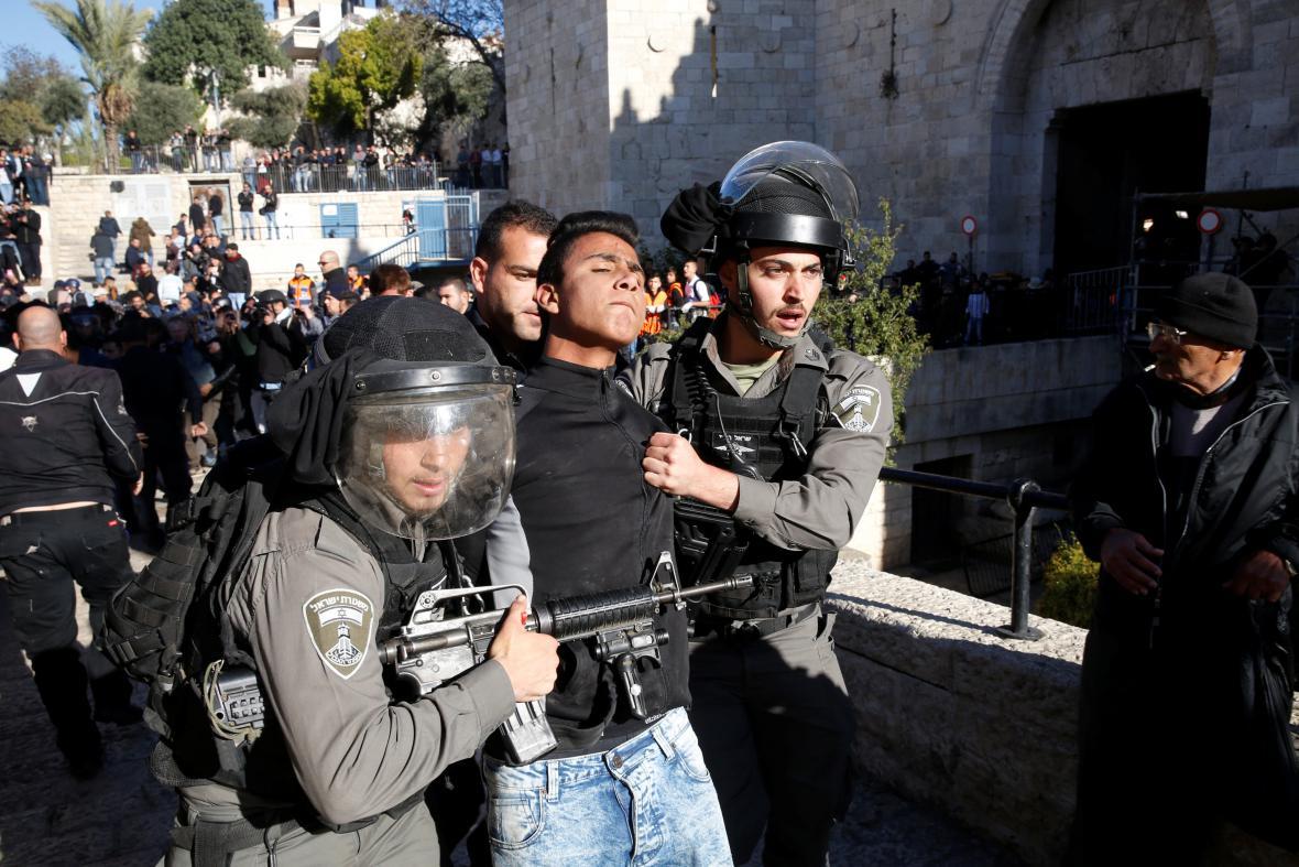 Palestinec zadržený v jeruzalémském Starém městě