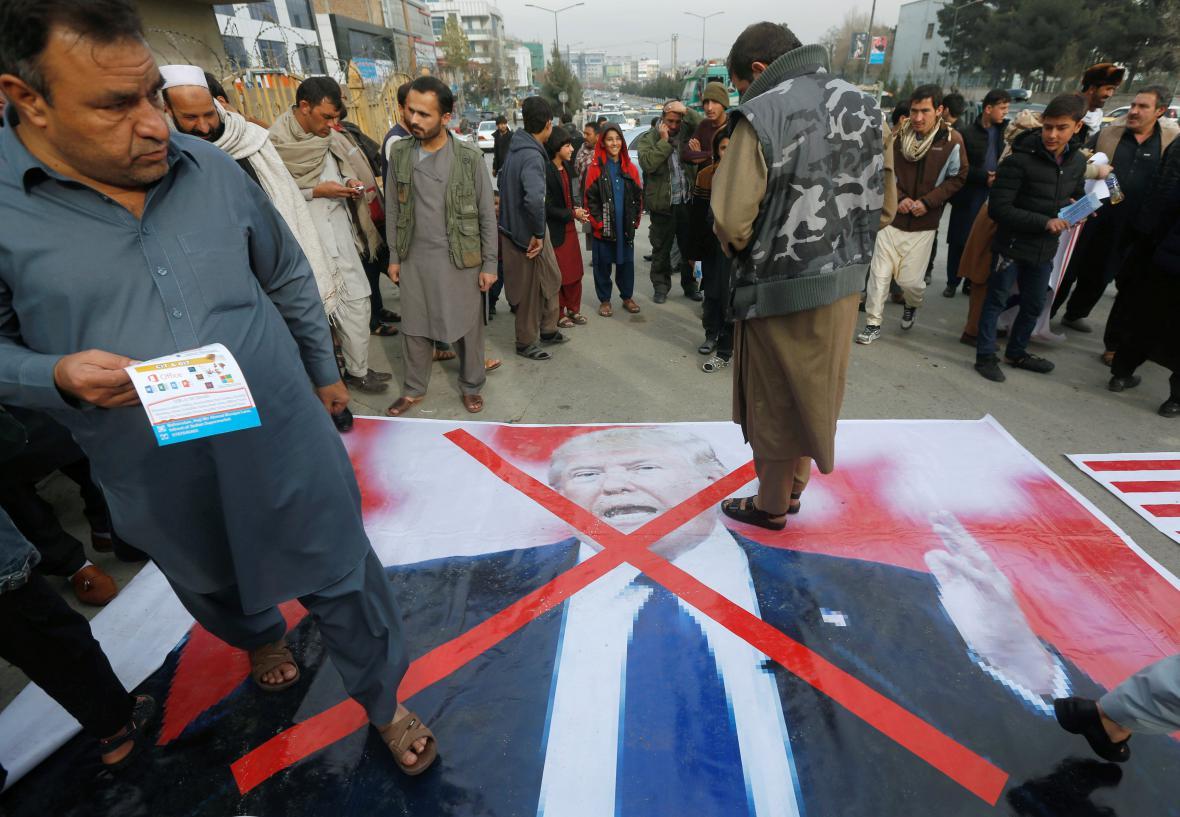 Protest v Kábulu