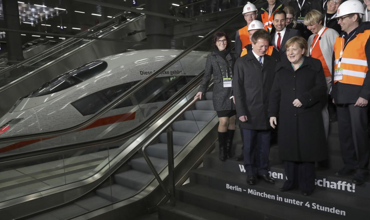 Delegace u vlaku z Mnichova