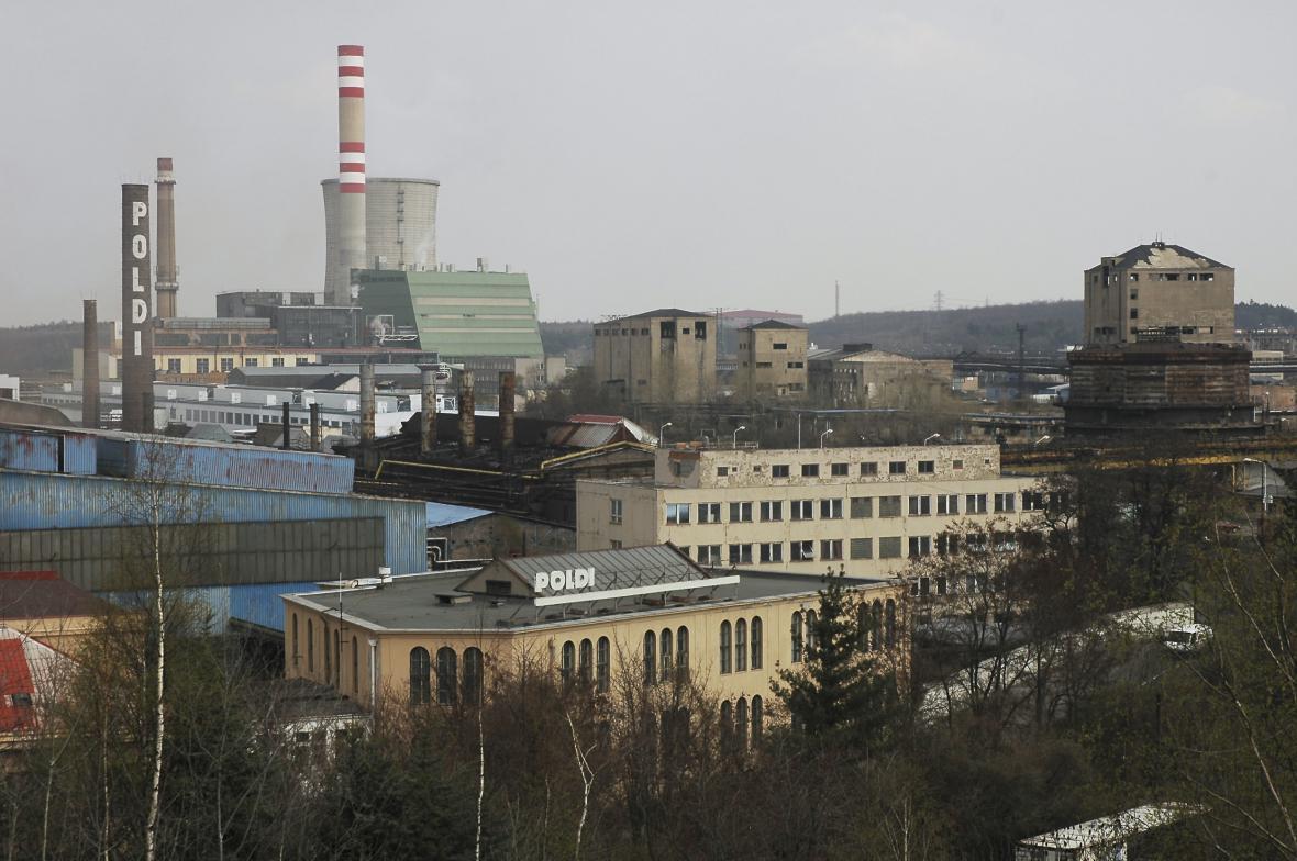 Areál Poldi Kladno na snímku z roku 2005