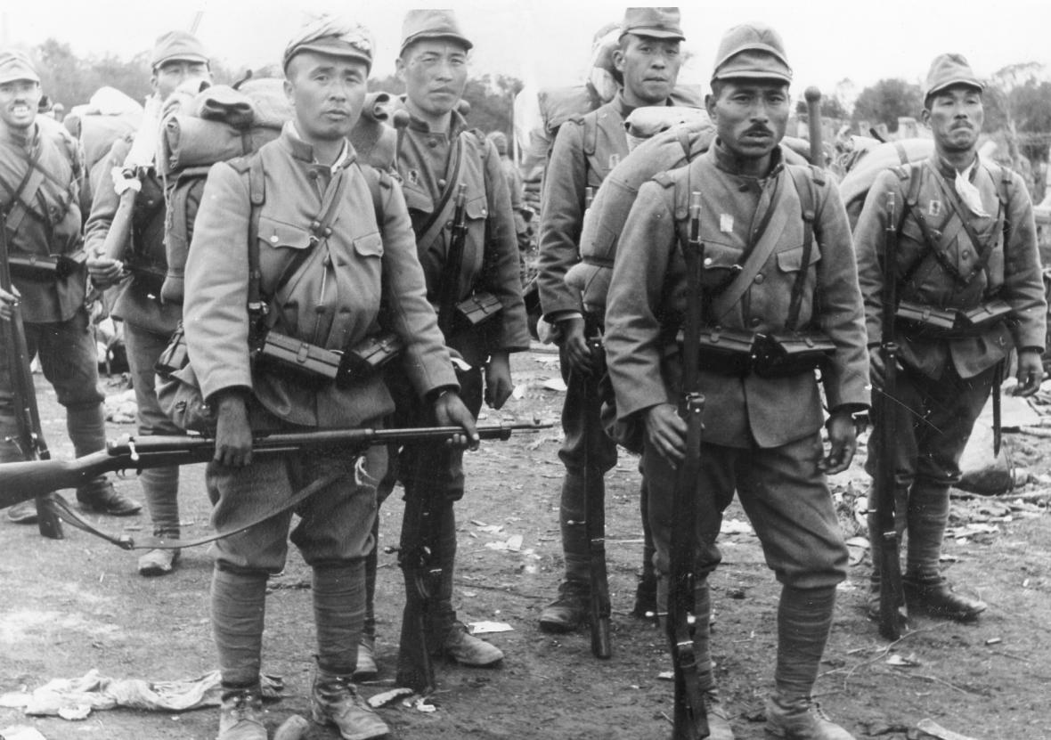 Japonští vojáci v Nankingu