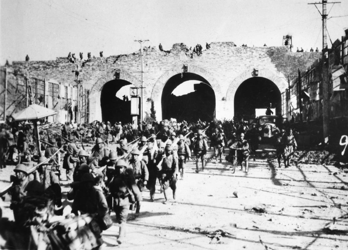Japonská armáda v Nankingu