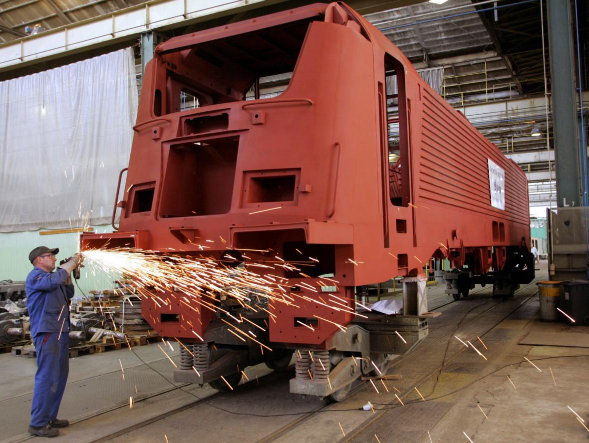 Výroba lokomotivy