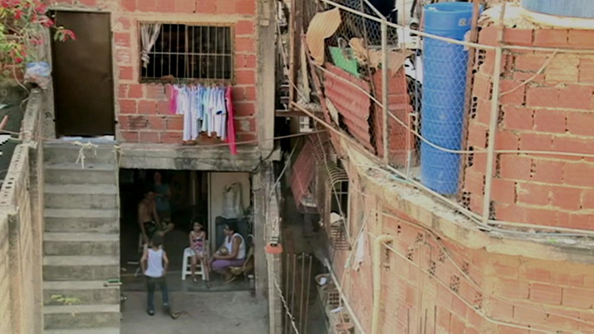 Chudinská čtvrť v Caracasu