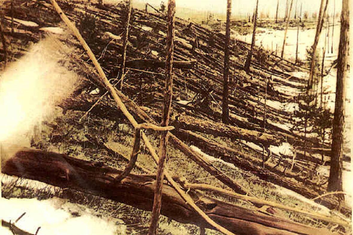 Dobový snímek z Tungusky