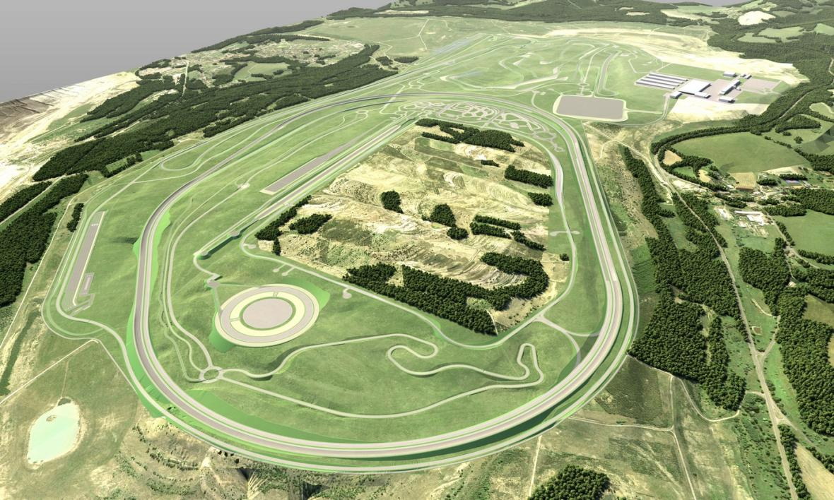 Nové zkušební centrum BMW v Česku (vizualizace)