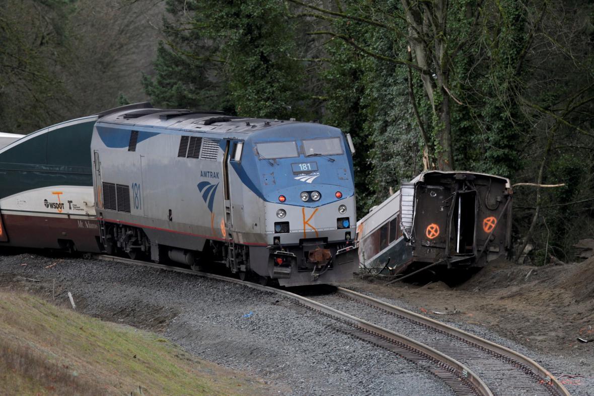 Železniční nehoda u Seattlu