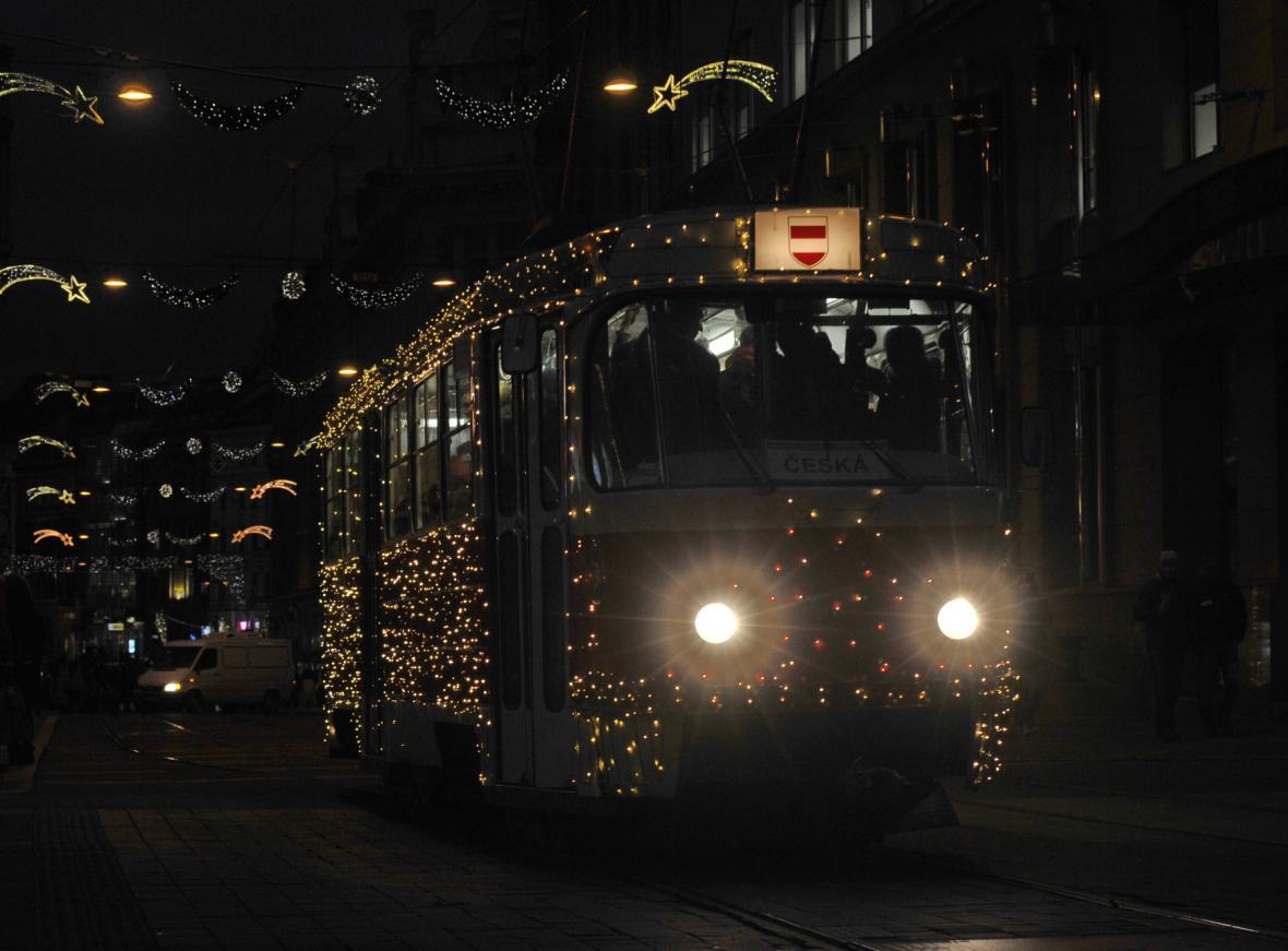 Brněnská vánoční tramvaj