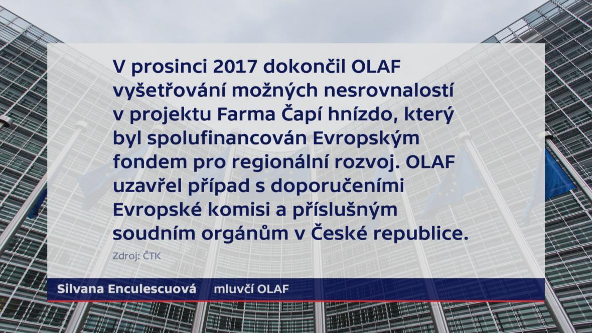 OLAF prohlášení k Čapímu hnízdu