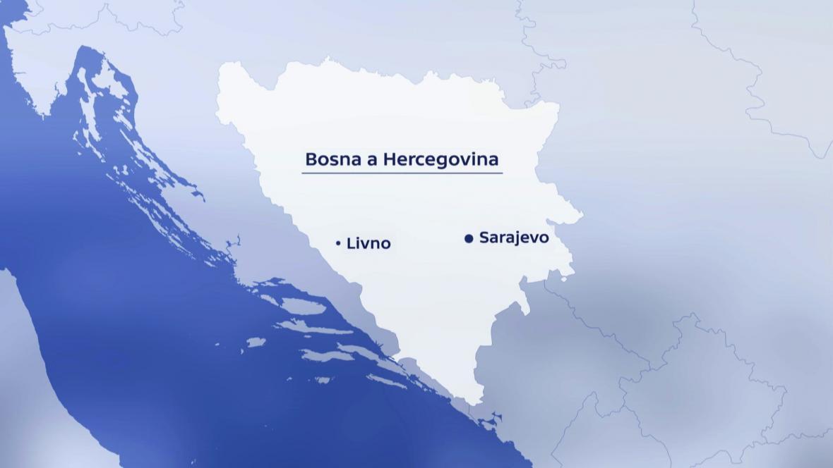 Livno leží na západě Bosny a Hercegoviny