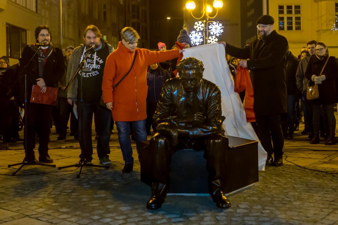 Odhalení sochy Leoše Janáčka v Ostravě