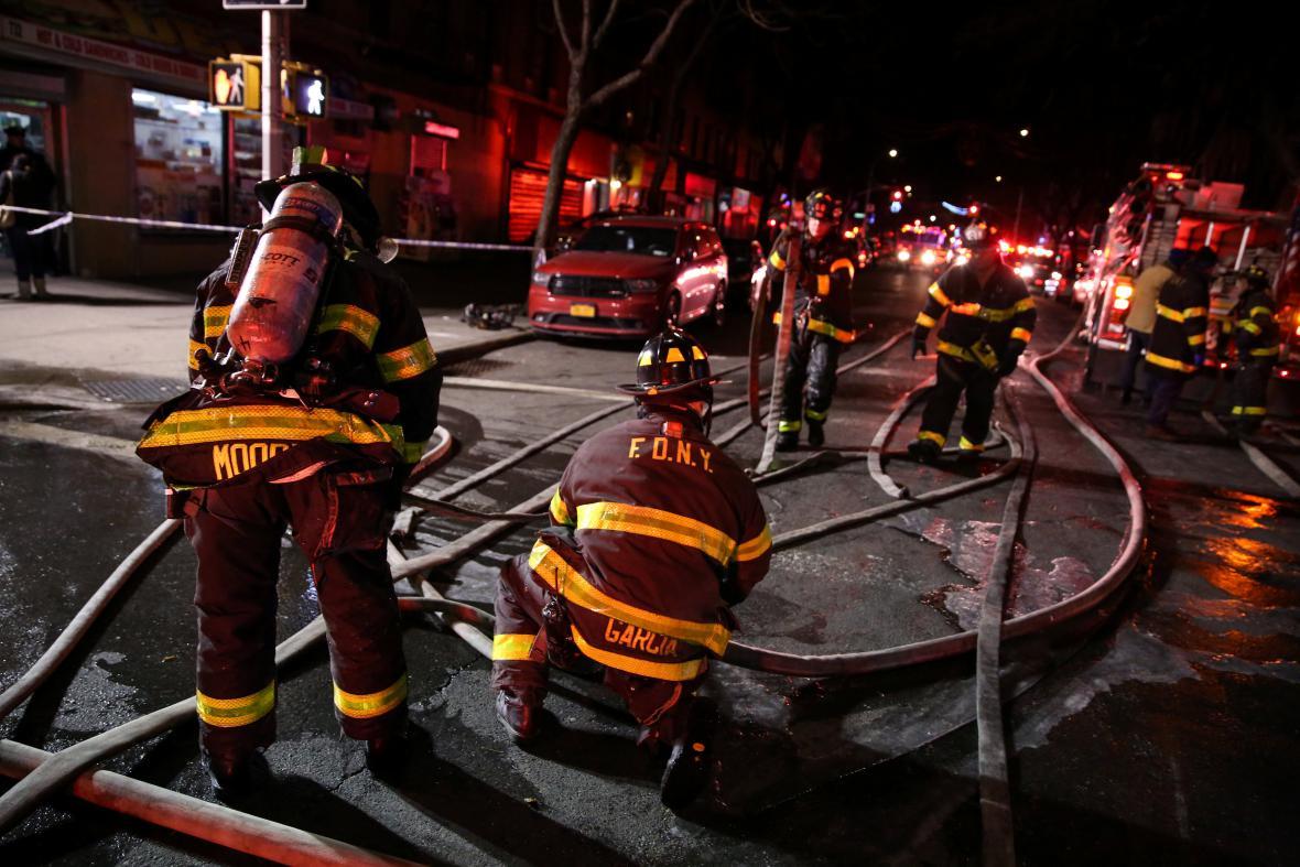 Požár v Bronxu