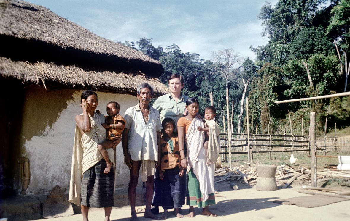 Vilém Borůvka při expedici v Indii