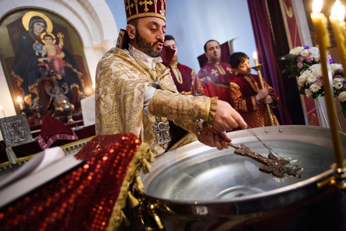 Vánoční bohoslužba v arménské církvi