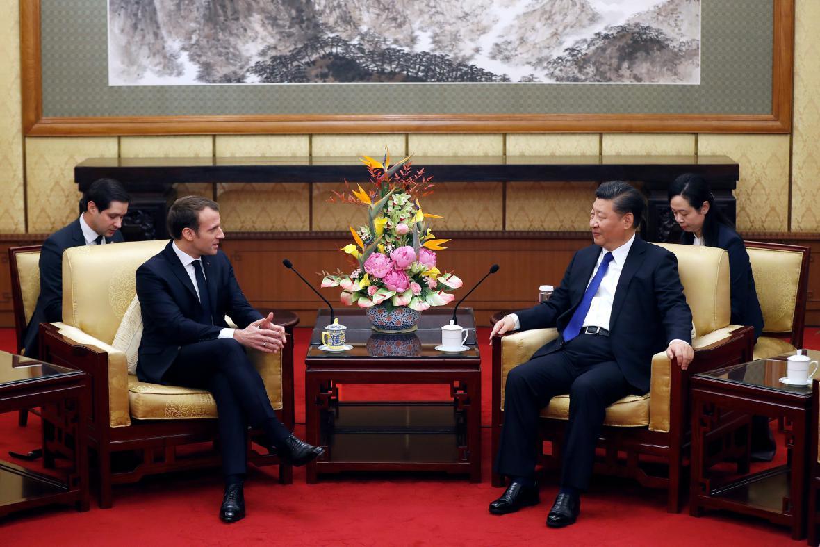 Emmanuel Macron a Si Ťin-pching