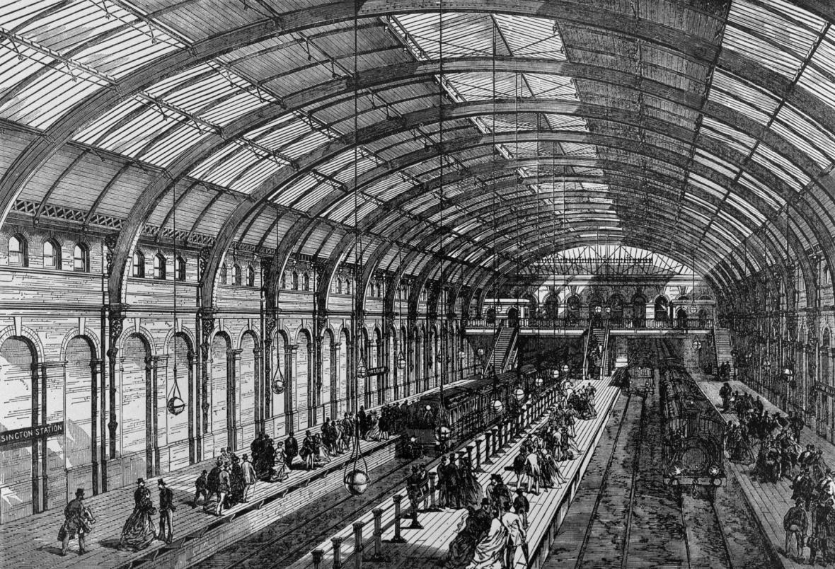 Kresba stanice Notting Hill Gate