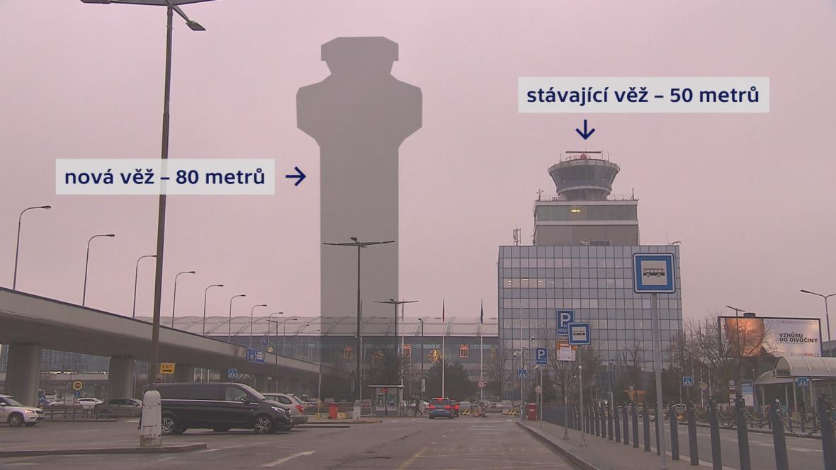 Jak vysoká bude nová řídící věž pražského letiště