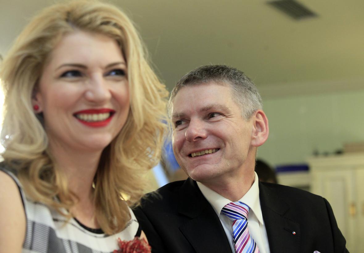 Jiří Hynek s manželkou