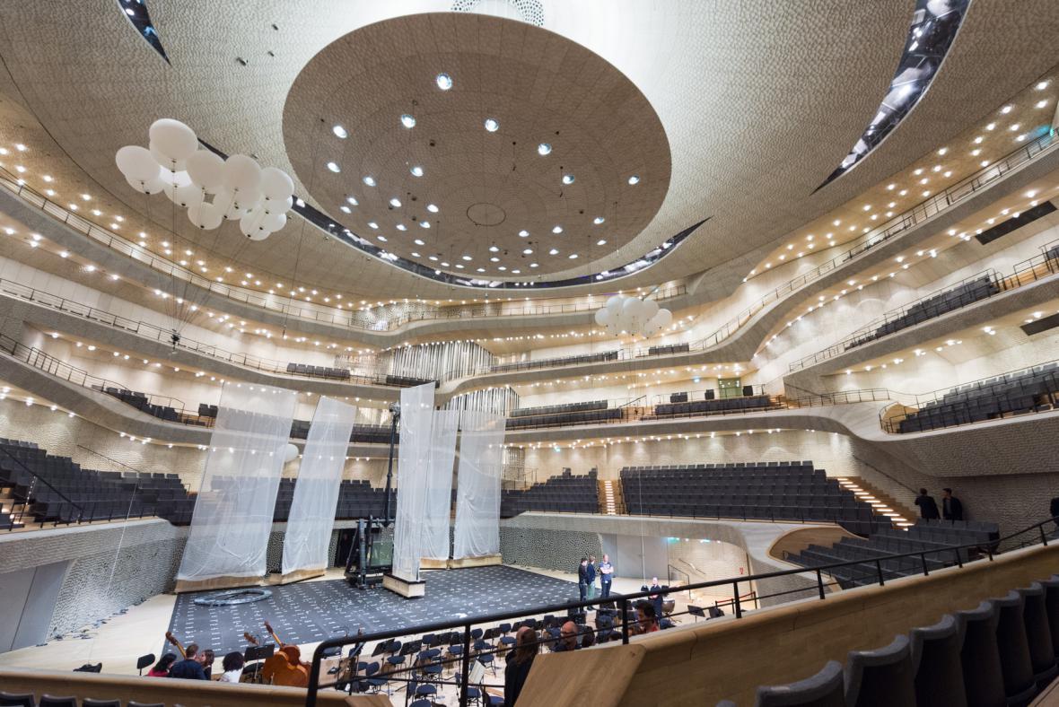 Koncertní sál Labské filharmonie v Hamburku