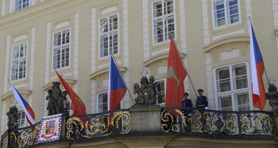 Husitské prapory na Pražském Hradě
