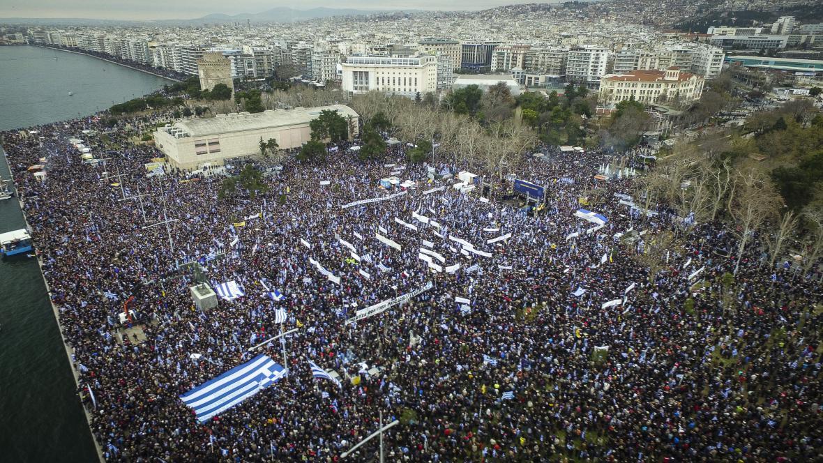Řecký protest proti názvu Makedonie