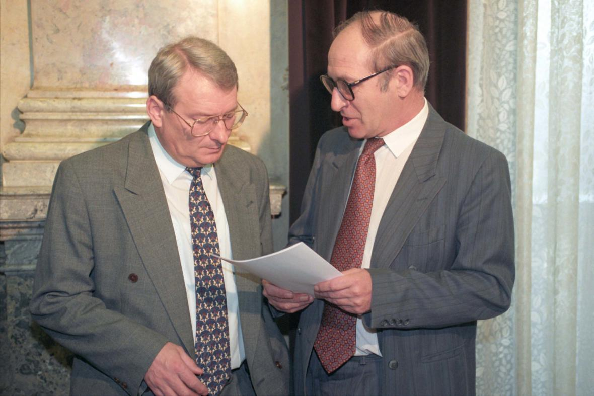 Ivan Kočárník a Jan Stráský