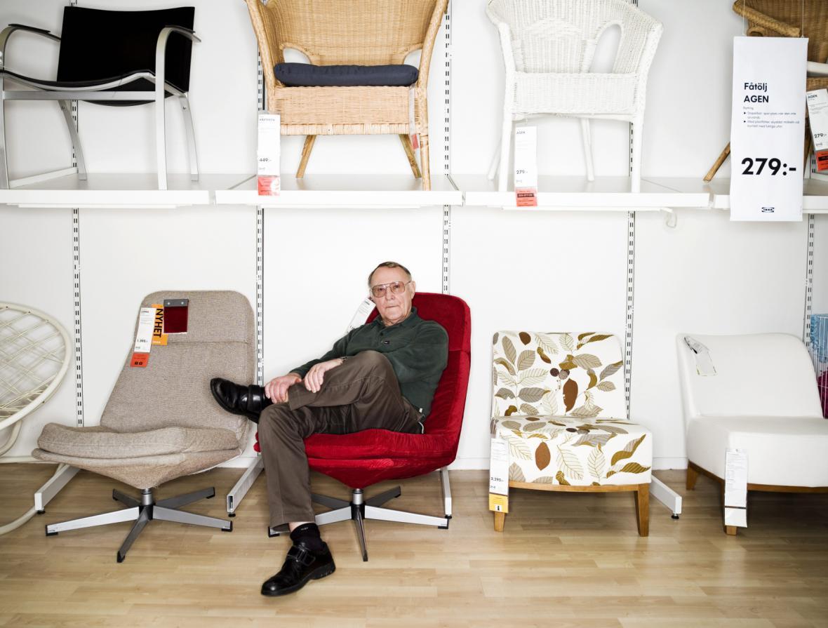 Ingvar Kamprad na snímku z roku 2010