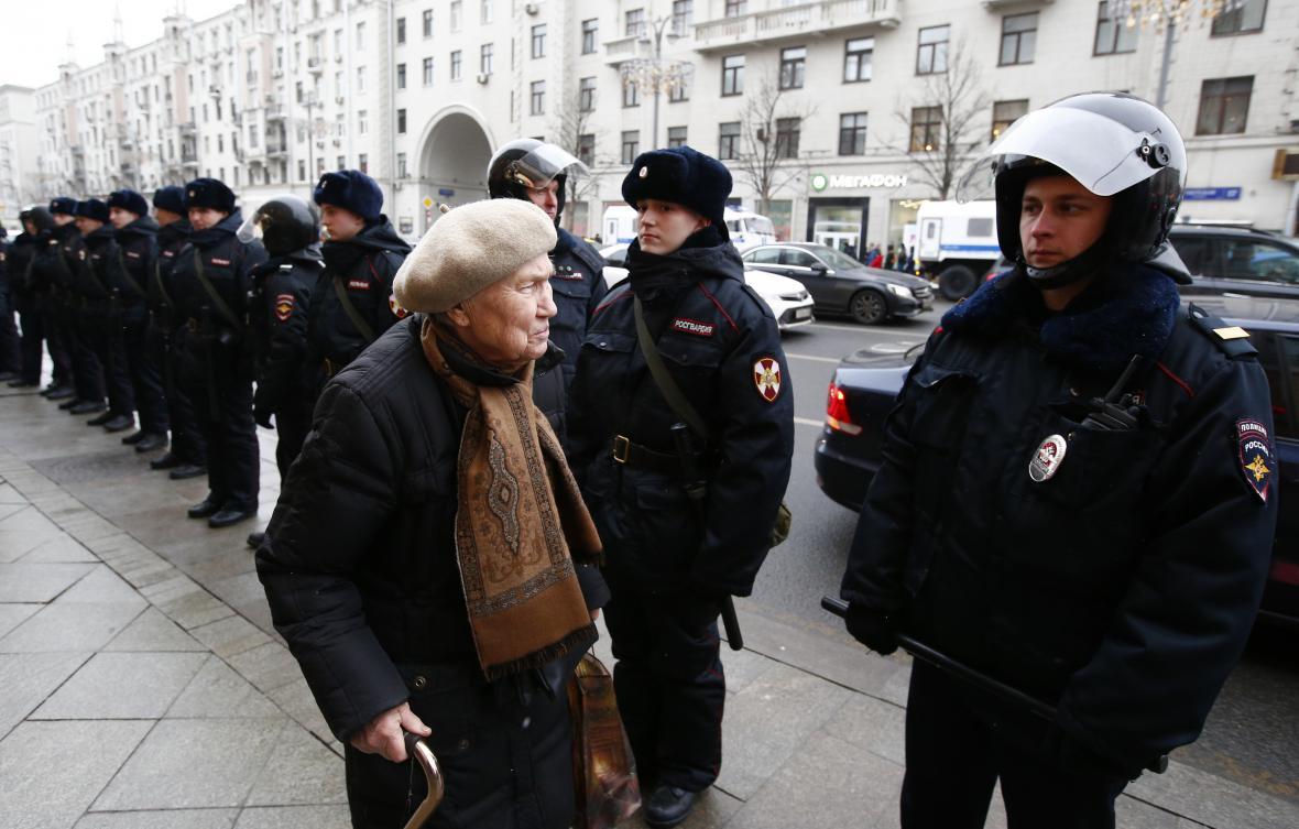 Policie dohlíží na situaci v Moskvě