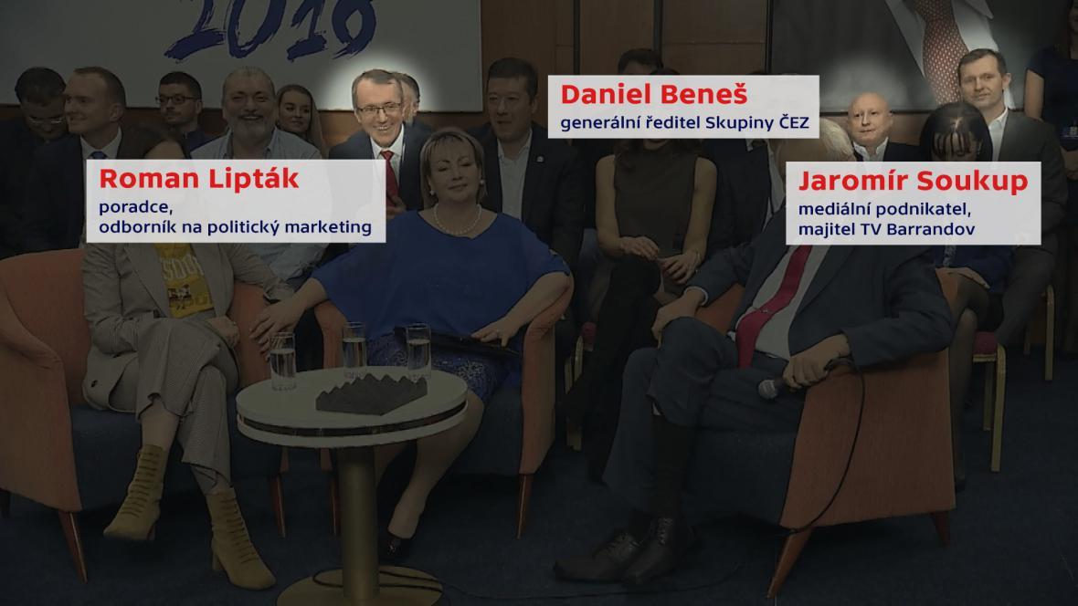 Roman Lipták, Daniel Beneš a Jaromír Soukup