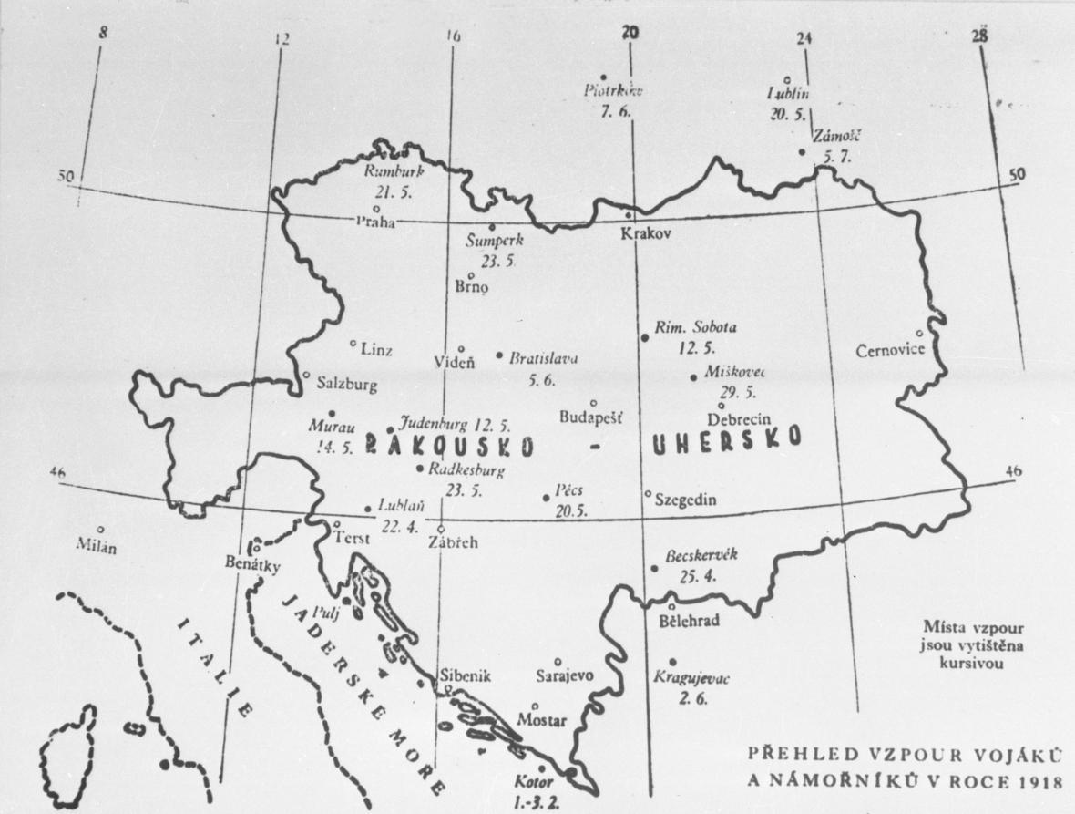 Vzpoury vojáků a námořníků v roce 1918