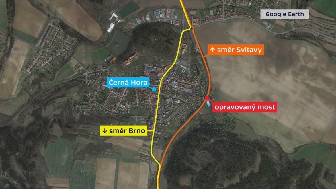 Most na obchvatu Černé Hory