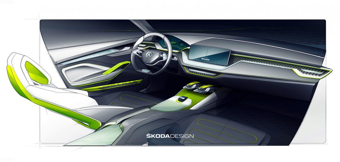 Vizualizace interiéru modelu Vision X