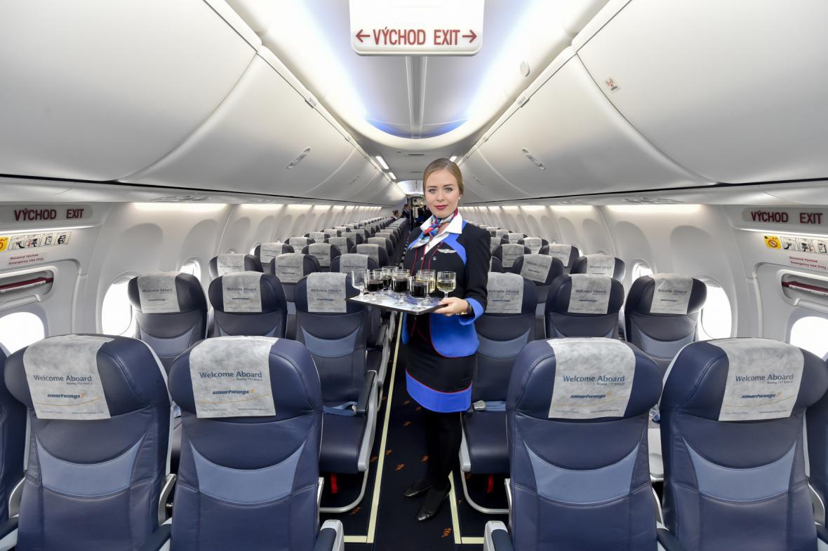 Interier letounu Boeing 737 MAX 8