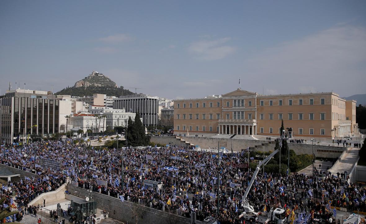 Athénský protest proti názvu Makedonie
