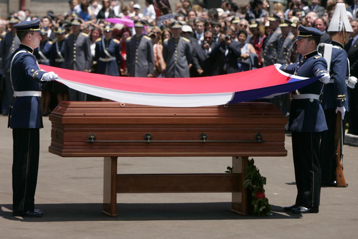 Pinochetův pohřeb