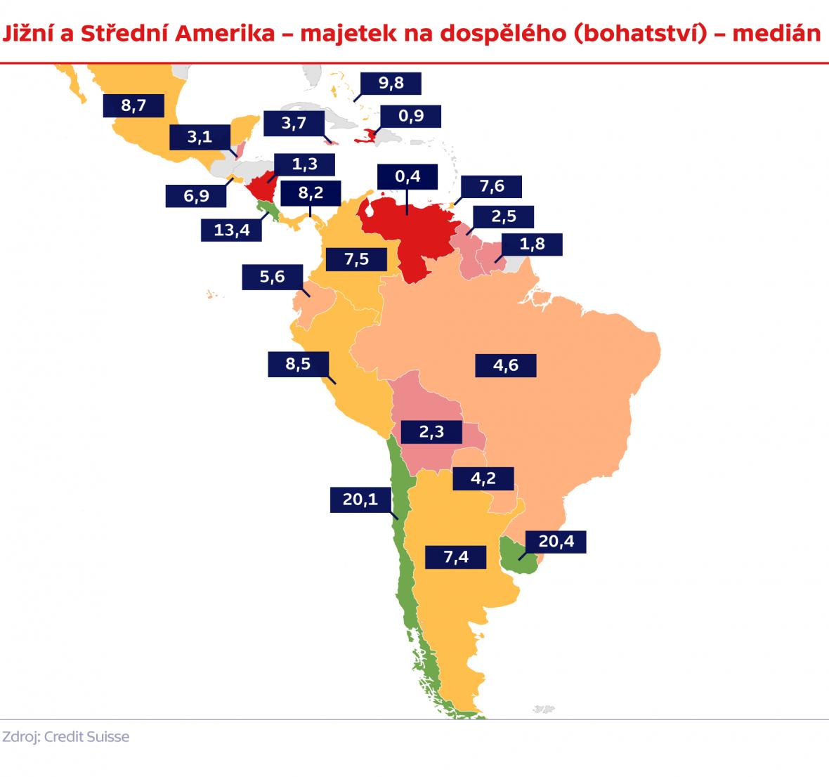 Současná ekonomická situace v Jižní a Střední Americe k prvnímu pololetí 2017