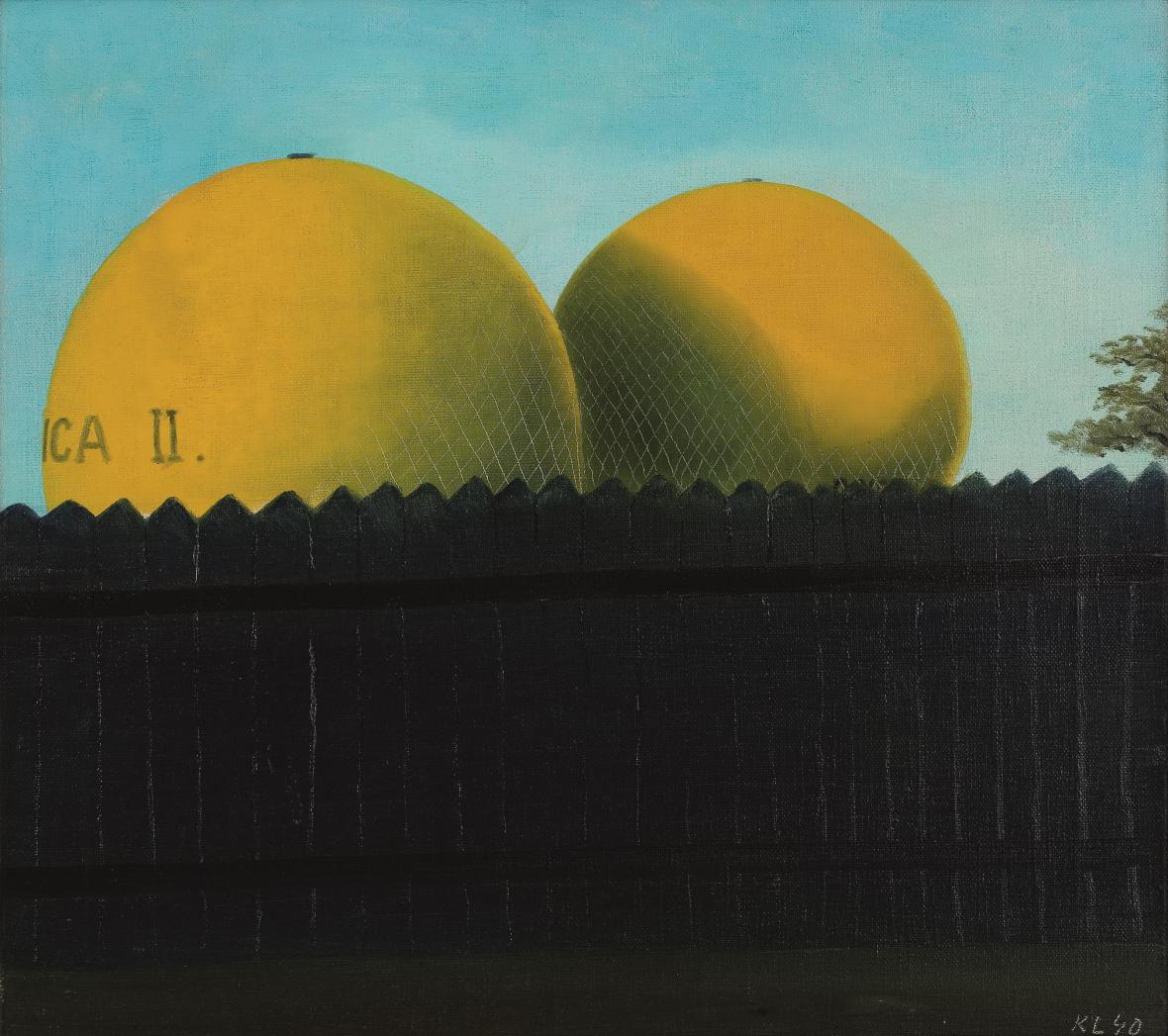 Balony v ohradě, 1940, Retro Gallery